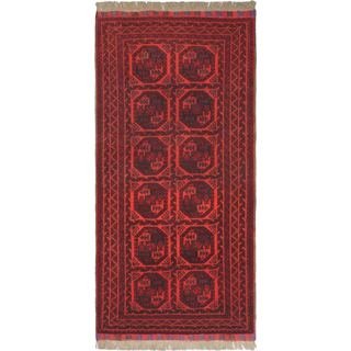eCarpetGallery Khal Mohammadi Red Wool Hand-knotted Rug (3'3 x 6'7)