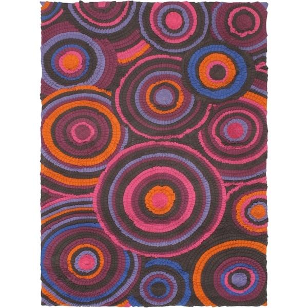 eCarpetGallery Handmade Eternity Bold Pink Wool Rug - 5'8 x 7'9