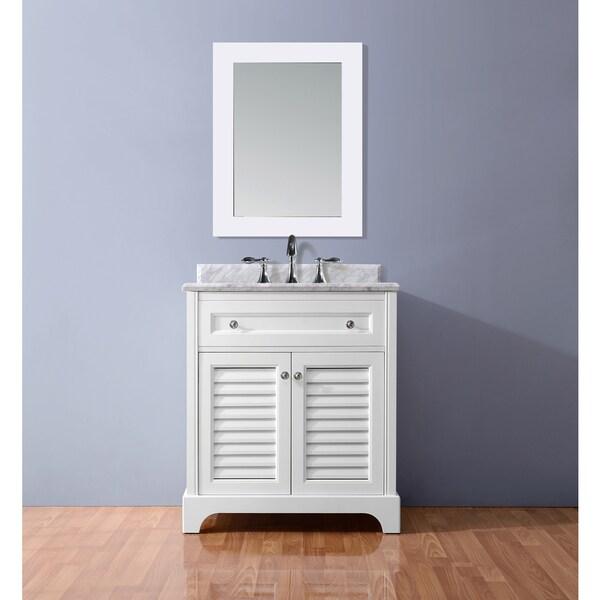Ari Kitchen And Bath Madison White 36 Inch Single Bathroom Vanity Set