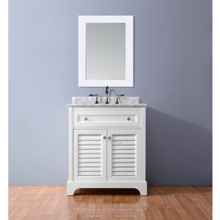Ari Kitchen and Bath Madison White 36-inch Single Bathroom Vanity Set