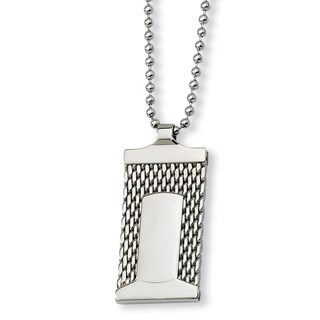 Versil Stainless Steel 24-inch Mesh Necklace