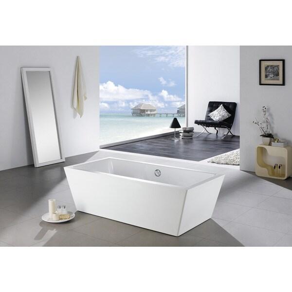 Shop Eviva Rachel Acrylic Free-standing 60-inch Bathtub - Free ...