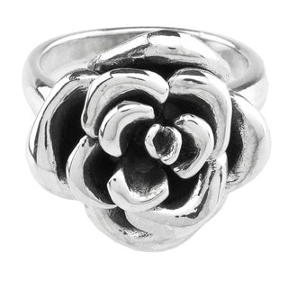 Haven Park Sterling Silver Floral Design  Ring