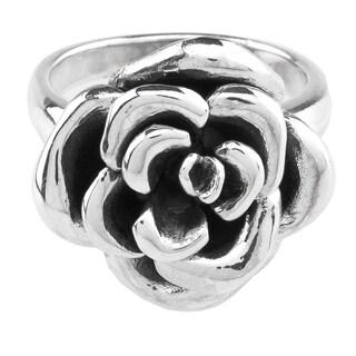 Haven Park Sterling Silver Floral Design Ring