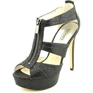 Michael Kors Women's Berkley Platform Black Textile Basic Dress Shoes