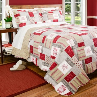 Slumber Shop Carlton Square 3- Piece Quilt Set