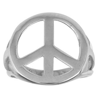 Haven Park Sterling Silver Peace Sign Ring