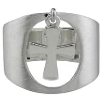 Haven Park Openwork-Styled Dangle Cross Ring