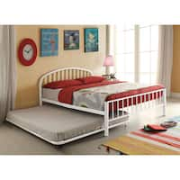 Cailyn White Metal 79-inch x 54-inch x 51-inch Full Bed