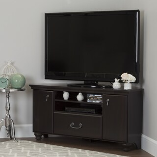 South Shore Grey Laminate Corner TV Stand with Adjustable Shelves (2 options available)
