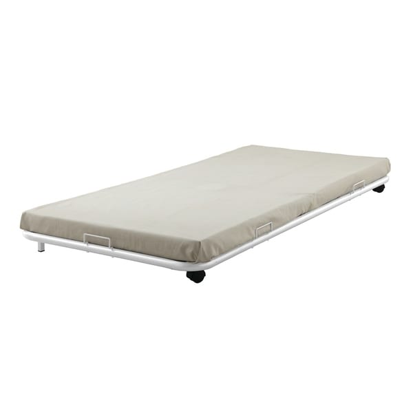 Shop Cailyn White Metal Full Size Trundle Bed Free Shipping Today