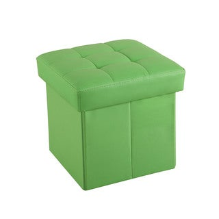 Kori Youth Green PU Storage Ottoman