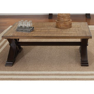 Liberty Weathered Honey and Black Cocktail Table