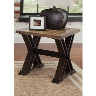 Catalina Weathered Honey and Black End Table