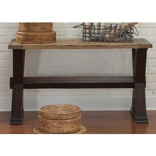 Liberty Weathered Honey and Black Sofa Table