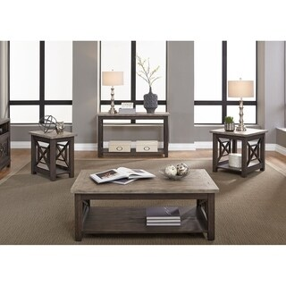 Heatherbrook Charcoal and Ash End Table