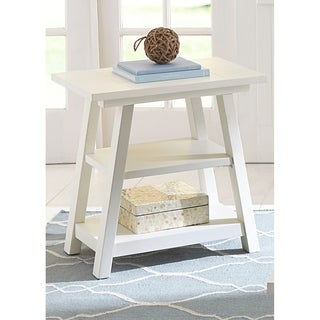 Summer House Oyster White Cottage Chair Side Table