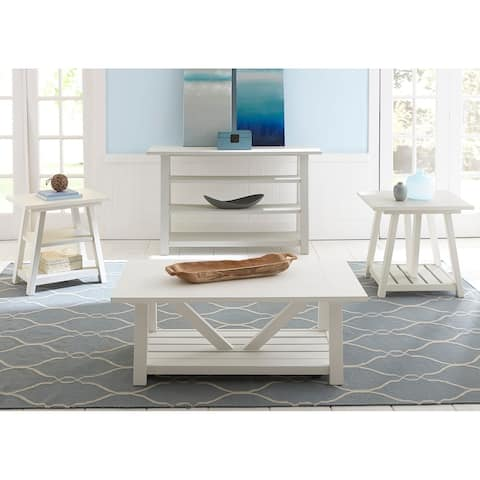 Summer House Oyster White End Table