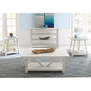 Summer House Oyster White Cottage End Table