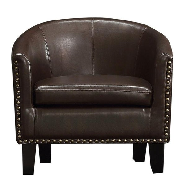 Moser Bay Furniture Isabela Faux Leather Barrel Club Chair. Opens flyout.