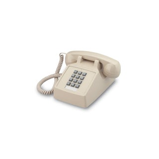 Cortelco 2500 Basic Desk Phone with Volume Control (Option: Beige)