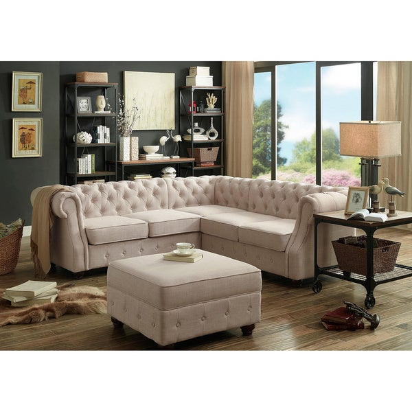 Shop Moser Bay Furniture Olivia Tufted Sectional Sofa