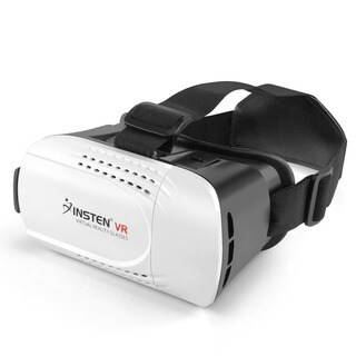 Insten Virtual Reality VR Glasses Headset with Adjustable Head Band for up to 6-inch Smartphone with Bluetooth Controller