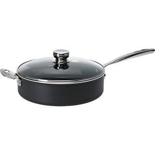 Ballarini Verona 4.3-quart Aluminum Non-stick Saute Pan with Helper Handle and Glass Lid