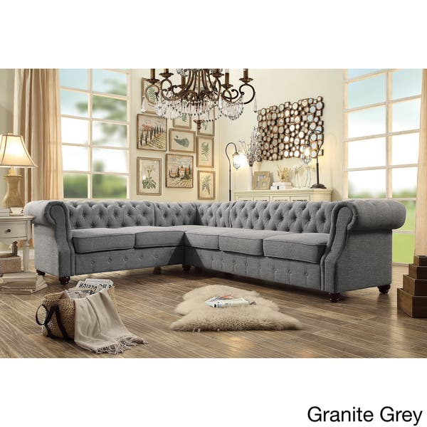 Fine Shop Moser Bay Furniture Olivia Tufted 6 Seat Sectional Sofa Andrewgaddart Wooden Chair Designs For Living Room Andrewgaddartcom