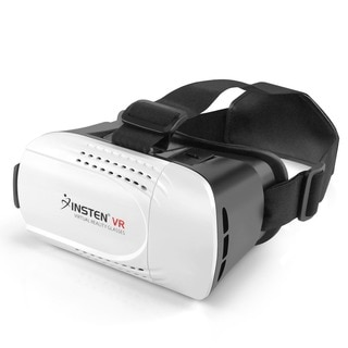 Insten Black/ White Virtual Reality VR Glasses Headset with Adjustable Head Band for 4.7-inch to 6-inch Android/ iOS Smartphone