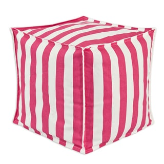 Canopy Candy Pink 17-inch Square-seamed Hassock