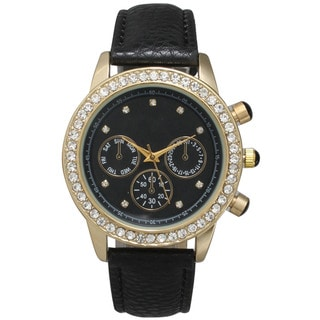 Olivia Pratt Women's Multicolored Stainless Steel Rhinestone Accent Watch