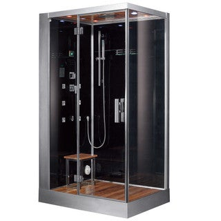 Platinum DZ959F8 Black Acrylic, Glass, Stainless Steel Computerized Steam Shower