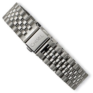 Versil Brushed and Polished Stainless Steel Bracelet