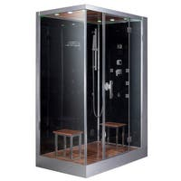 Platinum DZ961F8 Black Acrylic, Stainless Steel and Glass Two-Person Computerized Steam Shower
