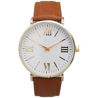 Olivia Pratt Multicolor Leather/Mineral/Stainless Steel Women's Classic Vintage-inspired Watch (Option: Brown)|https://ak1.ostkcdn.com/images/products/12033099/P18905564.jpg?_ostk_perf_=percv&impolicy=medium