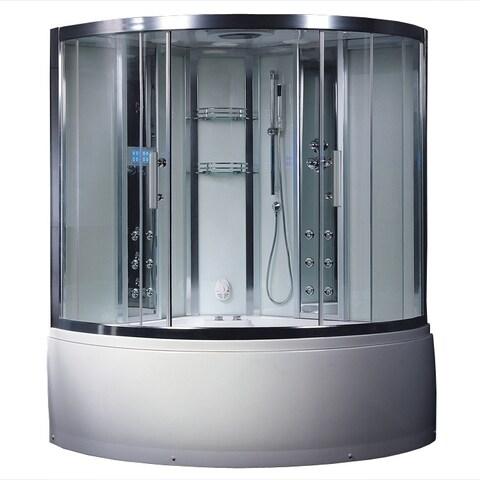 Platinum DZ972F8 Acrylic and Glass Computerized Steam Shower
