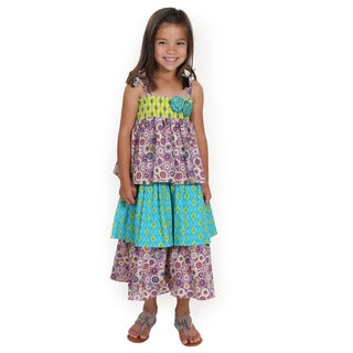 Maggie Girl's Woven Cotton Maxi Dress