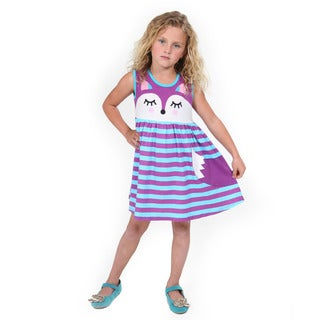 Girls' Purple Fox Dress