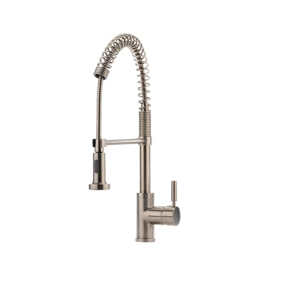 Hahn Commercial Stainless Steel Pre Rinse Kitchen Faucet   Silver