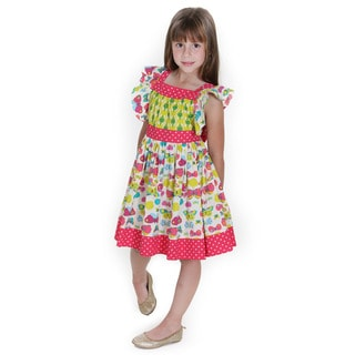 Jelly the Pug Girls Georgia Butterfly Woven Dress