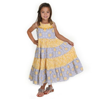 Girls Sara Tile Woven Maxi Dress