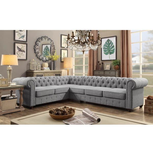 Phenomenal Shop Moser Bay Furniture Linen 6 Seat Sectional Sofa Set Andrewgaddart Wooden Chair Designs For Living Room Andrewgaddartcom