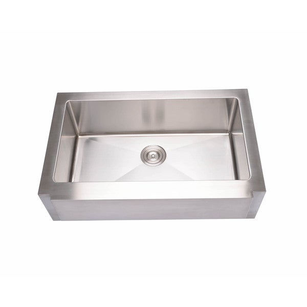 Hahn Notched Farmhouse Kitchen Sink: Shop Hahn Stainless Steel Large Notched Farmhouse Single
