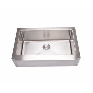 Hahn Stainless Steel Large Notched Farmhouse Single-bowl Sink