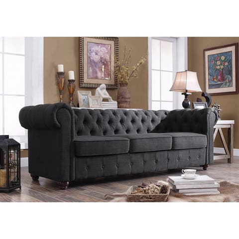 Garcia Hand-tufted Rolled Arms Sofa