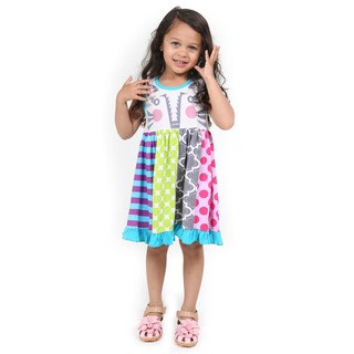 Girl's Multicolor Cotton Circus Tiger Dress