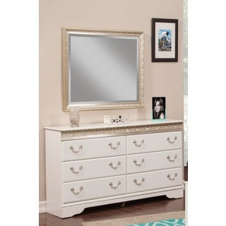 Sandberg Furniture Peyton 6-drawer Dresser and Mirror