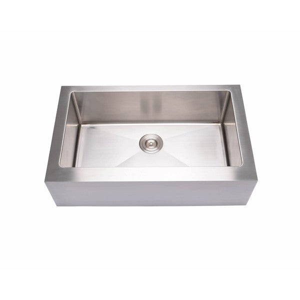 Hahn Notched Farmhouse Kitchen Sink: Shop Hahn Stainless Steel Flat-apron Farmhouse Large