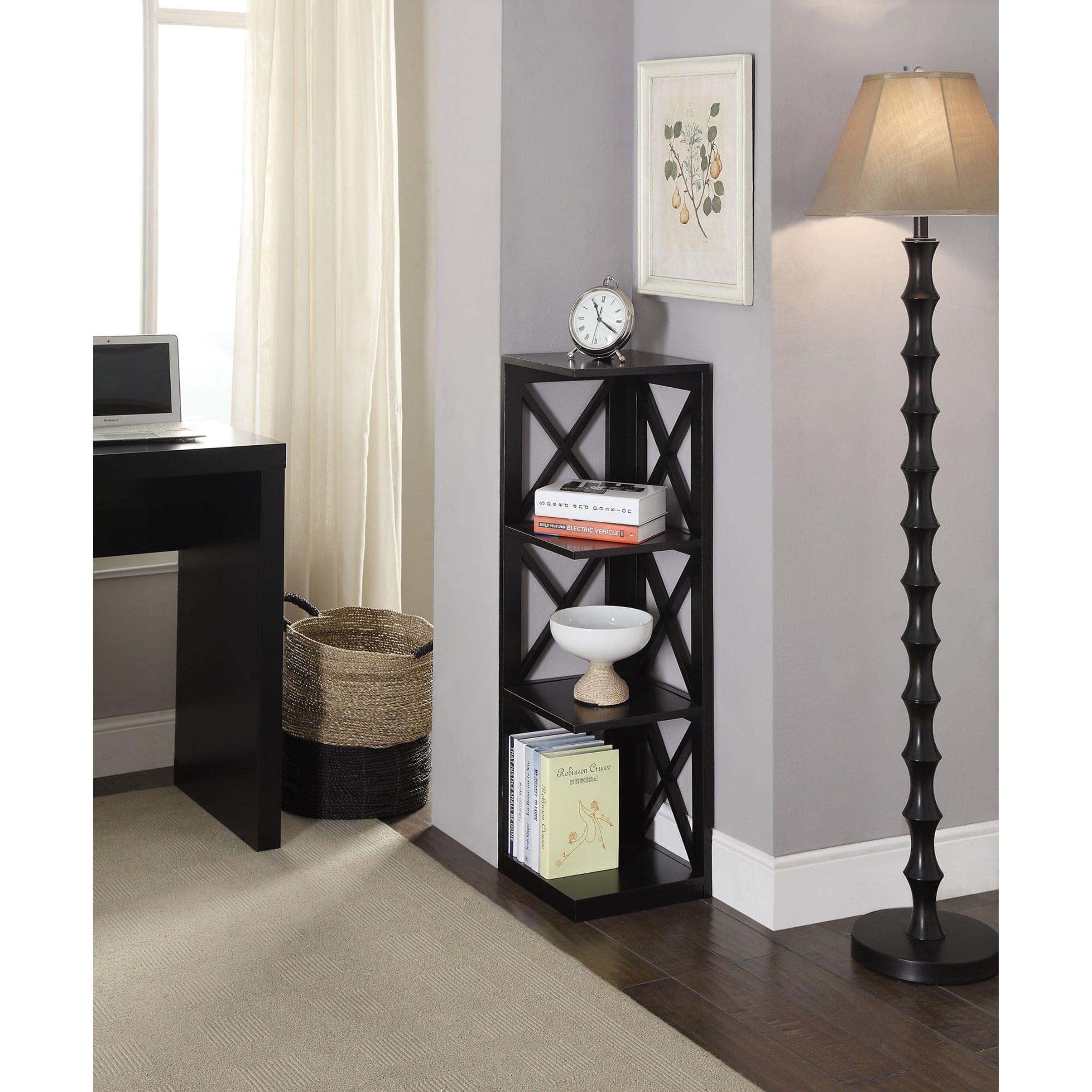 Convenience Concepts Oxford Wood 3 Tier Corner Bookcase